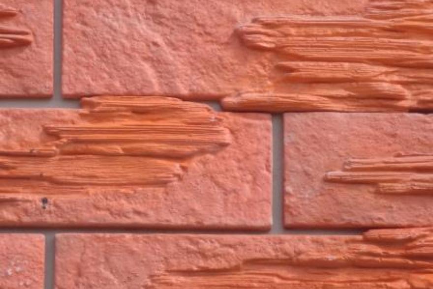 Искусственный камень из полимербетона - Классический кирпич со вставками